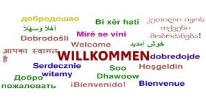 Willkommen in verschiedenen Sprachen